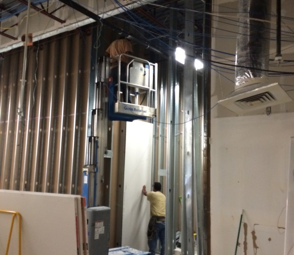 Drywall install 25 ft